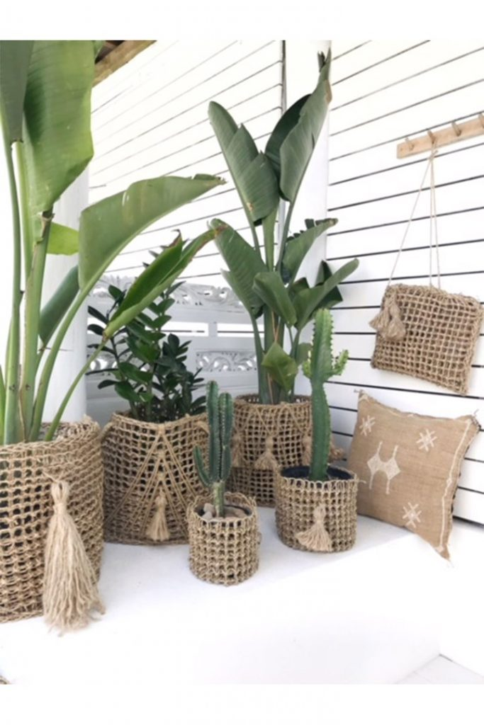 Doormat seagrass planter hack