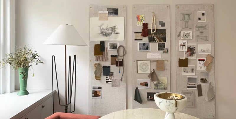 home office pin up board diy