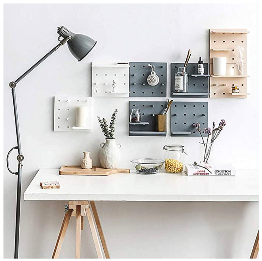 Home office space savers pegboard