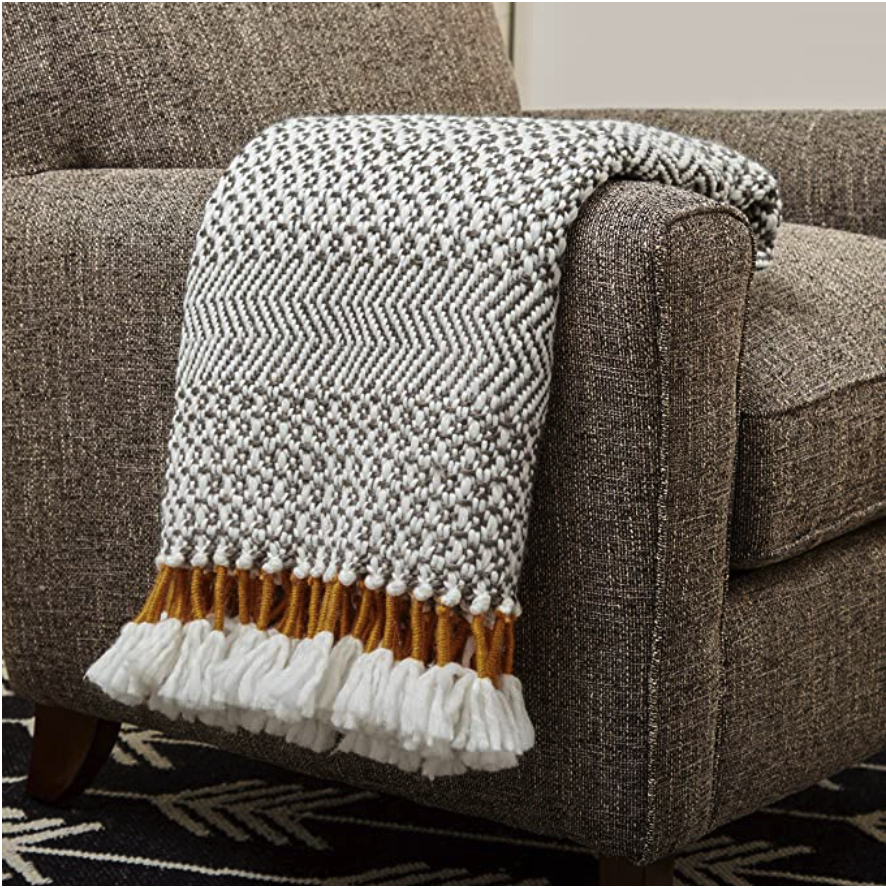 Throw blanket on couch ideas