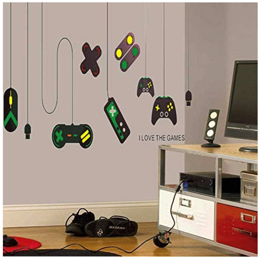 Wall decor for teenage guys_sony decals