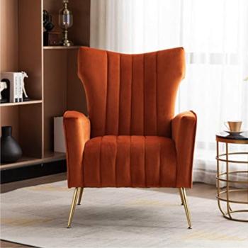 Burnt Orange Room Decor Chair