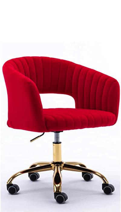 Red Teenage bedroom decor_study chair1