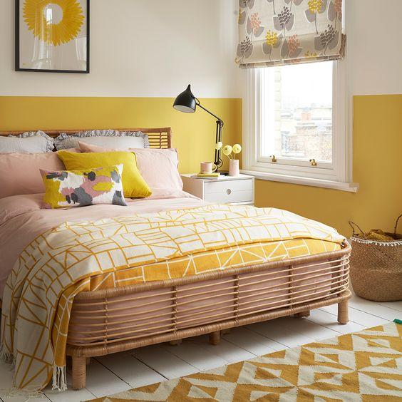 Yellow room paint