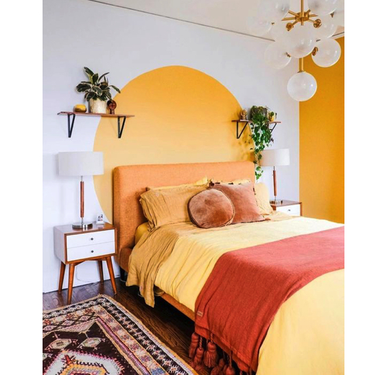wall colours for teenage bedroom_Yellow1