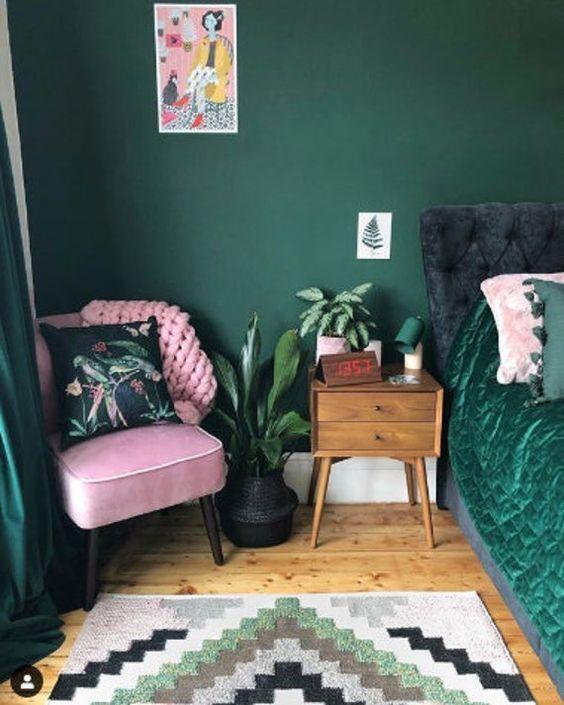 emerald bedroom decor