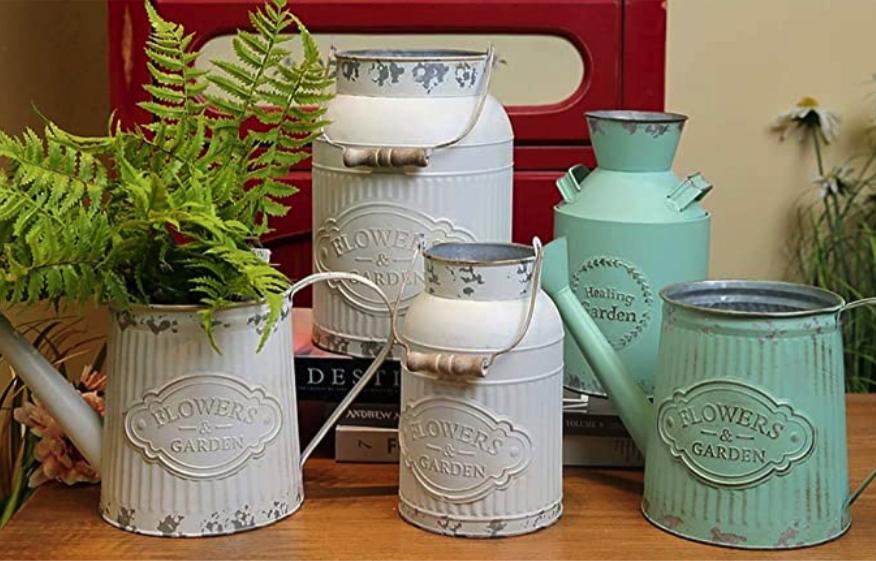 farmhouse decorations for living room_milk can