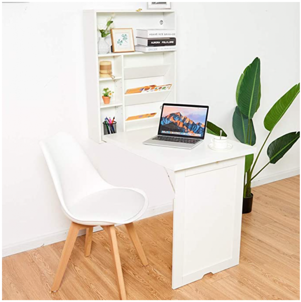 Fold away desk for small space