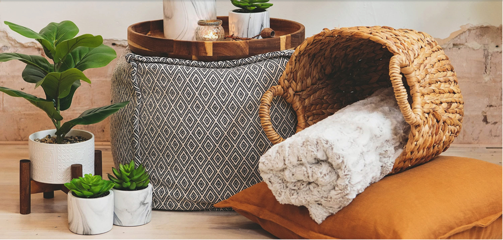 Cheap ways to update your living room_Artificial Plants